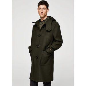 BURBERRY - Military Green Duffle Coat, M/L